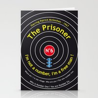 The Prisoner - Patrick McGoohan Vintage Decoration Print Posters Stationery Cards