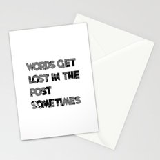 words. Stationery Cards