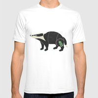 Badger  Mens Fitted Tee White SMALL