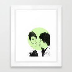 Pedro Almodovar and Penelope Cruz Framed Art Print