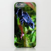 iPhone & iPod Case featuring Blue Poison Dart Frog by Kimberly Sulzer-Girlwithafrogtattoo