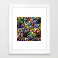 Peacock Garden Framed Art Print