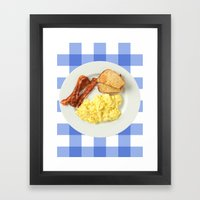 Give Me All The Bacon Eg… Framed Art Print