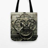 Lion Door Tote Bag