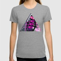 Wave black Womens Fitted Tee Tri-Grey SMALL