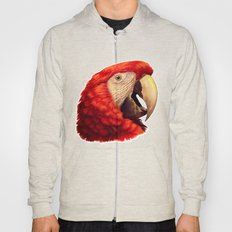 Scarlet Macaw Parrot Rea… Hoody