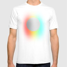 Subtle 1 White Mens Fitted Tee SMALL