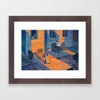 All Over Town Framed Art Print
