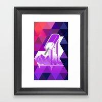 Grape Popsicle Framed Art Print