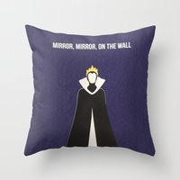 Disney Villain - Evil Qu… Throw Pillow