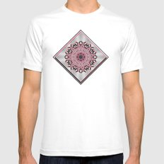 Misty Roses White SMALL Mens Fitted Tee