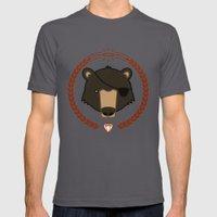 Mr. Bear Mens Fitted Tee Asphalt SMALL