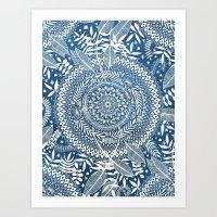 Diamond And Doodle Manda… Art Print