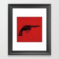 Pen Gun Framed Art Print