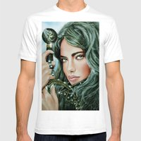 Warrior Girl Mens Fitted Tee White SMALL