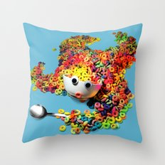 Clumsy Mornings Throw Pillow