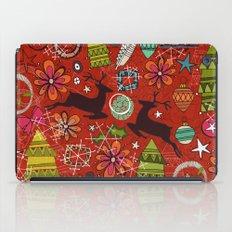 joyous jumble rust iPad Case