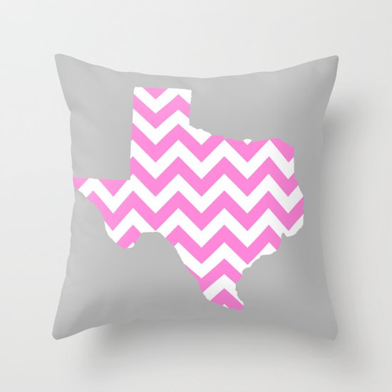 TEXAS {PINK} Throw Pillow