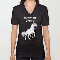 Unicorn rider Unisex V-Neck
