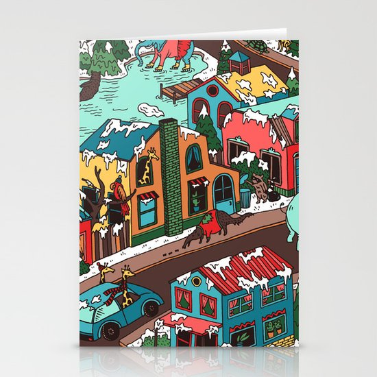 This Place is a Zoo! Stationery Card