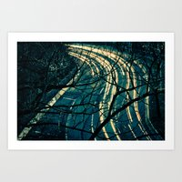 Light Trail Art Print