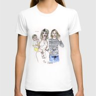 The Cobains Womens Fitted Tee White SMALL