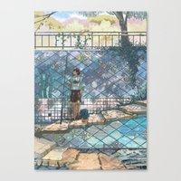 Sea stairs Canvas Print
