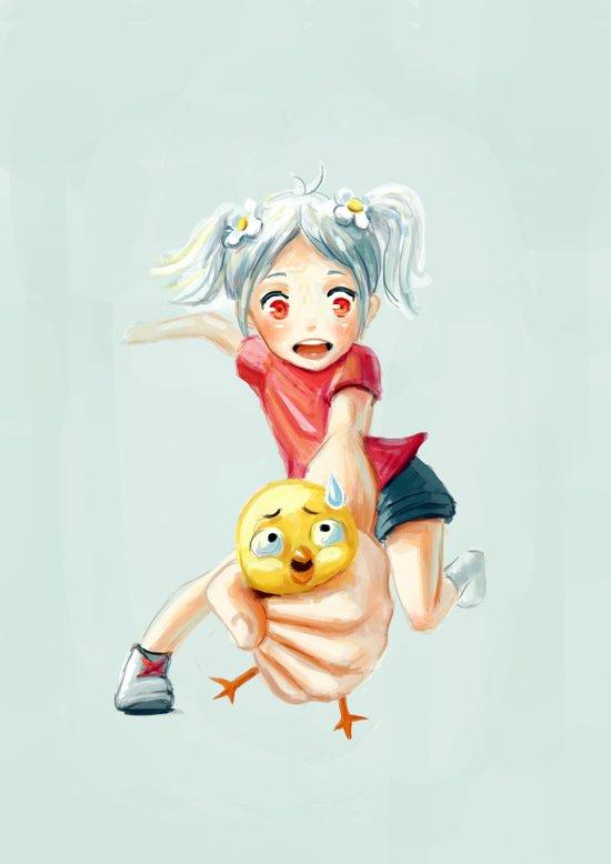 Chicken Grab Art Print