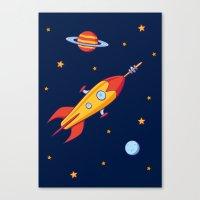 Spaceship! Canvas Print