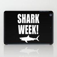 Shark week (on black) iPad Case