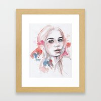 Singing of passion, watercolor Framed Art Print