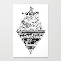 Olympe | Enfer Canvas Print
