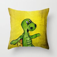 Turtle Emil Throw Pillow