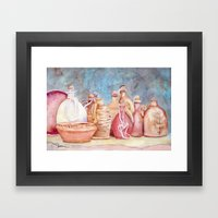 Lithuanian Pottery  WC20150709a Framed Art Print