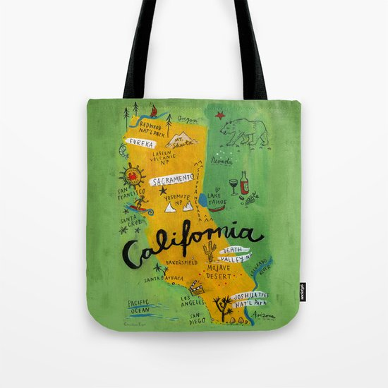 Postcard from California Tote Bag