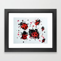 Splattered Bugs Framed Art Print