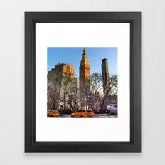 Evening Light Over the City Framed Art Print