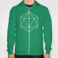 Icosahedron Pattern Bright Blue Hoody
