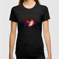 Freeing Butterflies Womens Fitted Tee Tri-Black SMALL