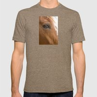 HORSE 2 Mens Fitted Tee Tri-Coffee SMALL