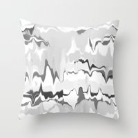 Marbled in onyx Throw Pillow