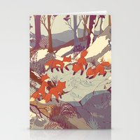 color Stationery Cards featuring Fisher Fox by Teagan White