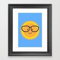 Sunglasses Framed Art Print