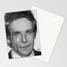 Ben Stiller Traditional Portrait Print Stationery Cards