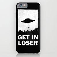 alien iPhone & iPod Cases featuring Get In Loser by moop