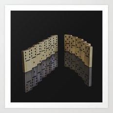 Domino effect Art Print