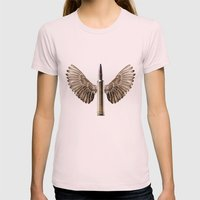 Caliber 30 Bird Womens Fitted Tee Light Pink SMALL