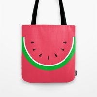 Red Watermelon - Summer time Tote Bag