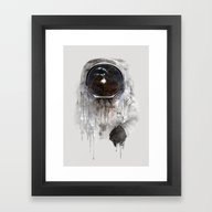 Framed Art Print featuring Astronaut by One Man Workshop