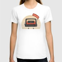 Cute Mix Tape Womens Fitted Tee White SMALL